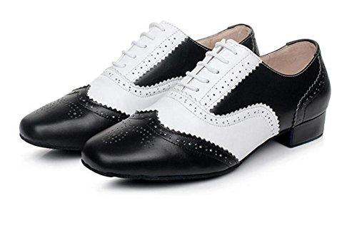 Scarpe uomo Latin Waltz Dance vera pelle scamosciata morbida taglia unica 38To45 Black