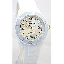 Nerd® Koss B. Damen Armbanduhr in Weiß W62