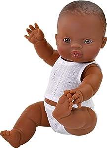 Paola Reina Gordi niño negrito Pijama Blanco 34 cm, 34002