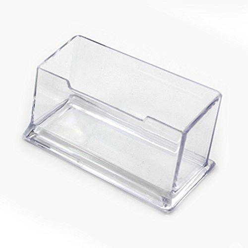 HuaYang 1PCS Etagere Visitenkarte aus hartem Kunststoff transparent Bucket einfach Kreditkartenschlitze