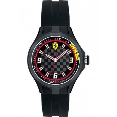 Reloj Ferrari 820001 de cuarzo para hombre, correa de silicona color negro de Ferrari