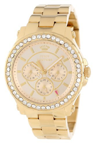 Juicy Couture Succosa Couture Pedigree Multifunzione Champagne Quadrante Oro-tono Ladies Orologio 1901049