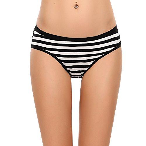 ADOME 3er-Set Damen-Slips Unterhosen Streifen Unterwäsche aus Baumwolle