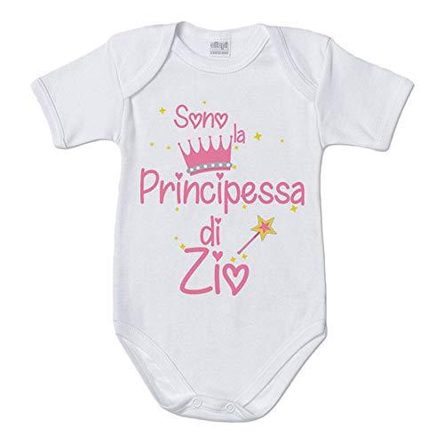 Foto Pariando Tutina con Maniche Lunghe e Piedini neonata in Cotone Biologico la Principessa di Zio