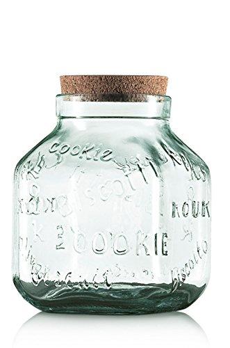 Vetreria Etrusca 99000105 Pot à biscuits, verre, transparent, 15,4 x 15,4 x 20,1 cm