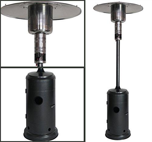Terrassenheizer Heizpilz 13,5 KW Schwarz mit double layer Brenner