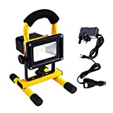 Rechargeable LED Work Light, URPIRE 2000-2200lm 10W Portable Bright Day White Outdoor Flood
