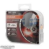 OSRAM Night Breaker Unlimited Premium 2 x Halogen-Scheinwerferlampe H7 PX26d, 55 W, +110 % Lichtstärke, +40 m Lichtkegel, um 20 % weißere Lichtfarbe