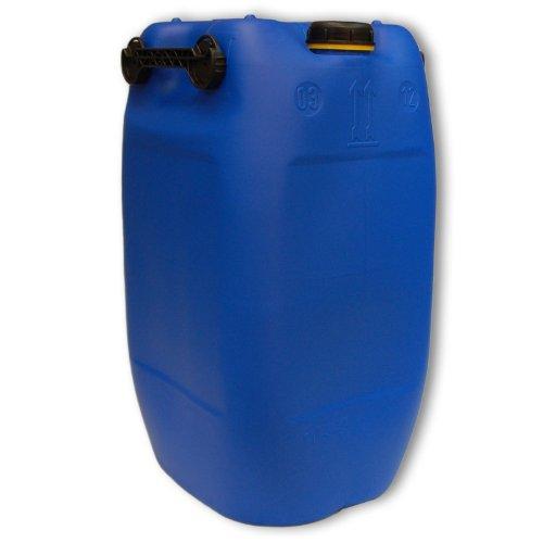 Bidon – Jerrican 60 L, 3 poignées, Bleu HDPE ouverture DIN 71 qualité alimentaire (22047)