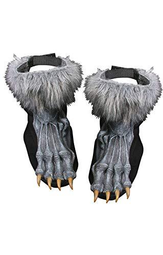 Kostüm Füße Wolf - Graue Werwolf Füße