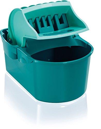 Leifheit Wischtuchpresse Profi Compact mit Henkel, rückenschonender 8 Liter Putzeimer zum Auspressen des Wischtuchs ohne nasse Hände, Presse für Bodenwischer wie handgewrungen