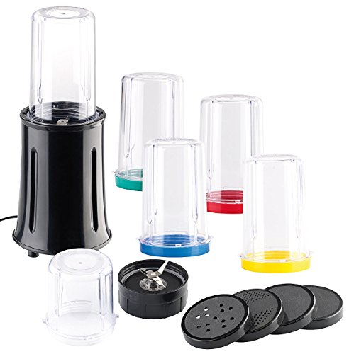 Rosenstein & Söhne Juice Maker: Kompaktes 17-teiliges Standmixer-Set, 400 Watt (Smoothie Maker)