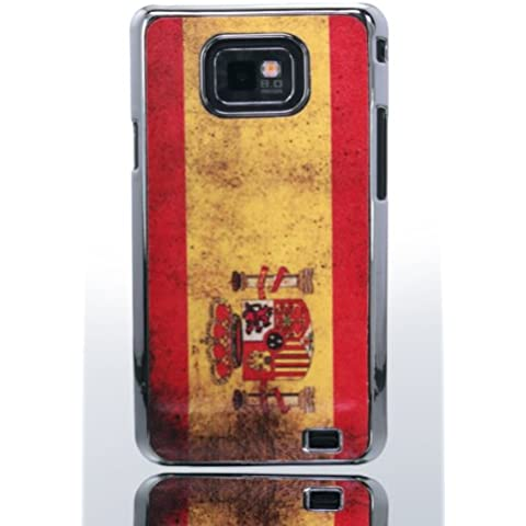 THS5 Star Bandiera della Spagna Spain Flag accessori per Samsung S2 Galaxy i9100 custodia Hard Case in Chrome effetto Custodia Case Cover in qualità Premium – Studio Lars Peter nuovo