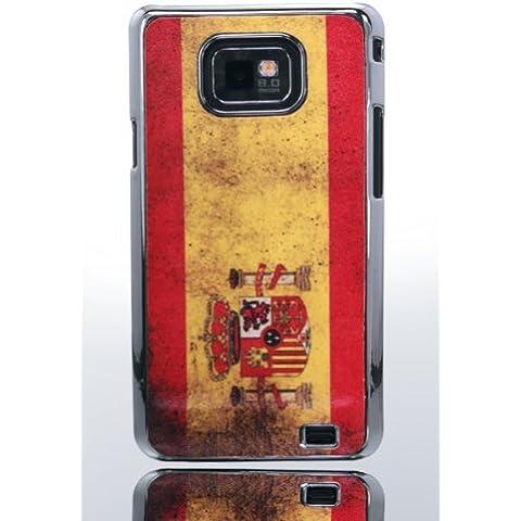 THS5Star Bandiera della Spagna Spain Flag accessori per Samsung S2Galaxy i9100custodia Hard Case in Chrome effetto Custodia Case Cover in qualità Premium–Studio Lars Peter nuovo