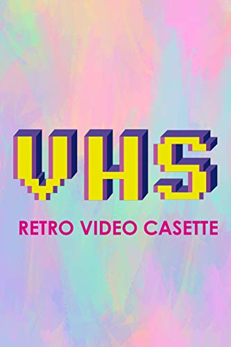 VHS Retro Video Casette: Blank Lined Notebook (80's ) Pastel