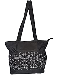 Baby Bucket Baby Diaper Nappy Changing Baby Diaper Bag/Baby Bag/Mummy Bag/Handbag (Black & White Prints)
