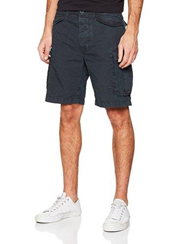 Superdry Herren Shorts Orange Label Cali Blu (Sun Bleached Navy Snowy)