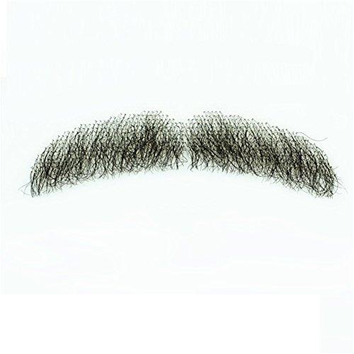Bart 100% Echthaar Full hand auf Lace Herren Fake Bart Schnurrbart für Unterhaltung Party Film (Machen Fake Bart Kostüm)