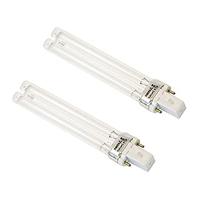 Twin Pack 9w (watt) PLS Replacement UV Bulb Lamp for Pond Filter UVC