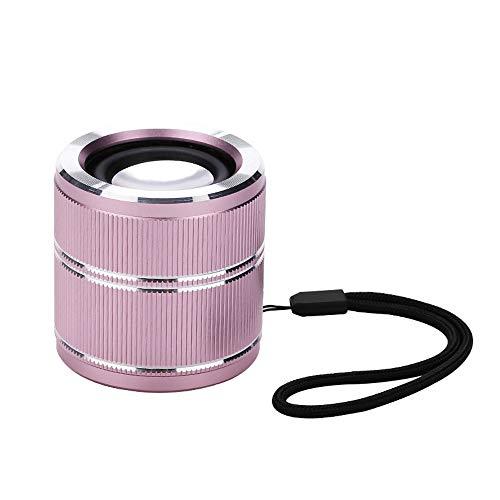 HK Mini Super Mobiler Bluetooth Lautsprecher Speaker mit 6 Stunden Spielzeit, 20Meter Reichweite und Starkem Bass Tragbarer Lautsprecher, Wireless Speaker, mit für iPhone,Android,iPad,Laptops,Pink