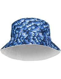 Sports Chapeau de Soleil Chapeau de Seau Plat en Coton imprimé rayé à la  Mode pour Hommes Unisexes pour Femmes en Satin d été… d7fbb62c0f30