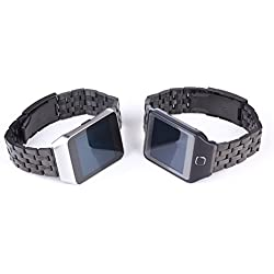 GOOQ New Solid Stainless Steel Watchband Wristband for Samsung Galaxy Gear 2 R380 Neo R381 Live R382 Smart Watch Strap Compatible with LG G Watch W100/W110 Smart Watch