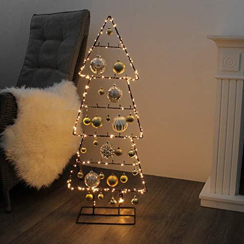 Multistore 2002 Weihnachtsdekoration Aufsteller Weihnachtsbaum Dekobaum, 30 Haken, 6 Ebenen, Metall, 42xH100cm, Tannenbaum Christbaum Tanne