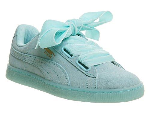Puma Suede Heart Reset Wns 36322902, Scarpe sportive blu pastello