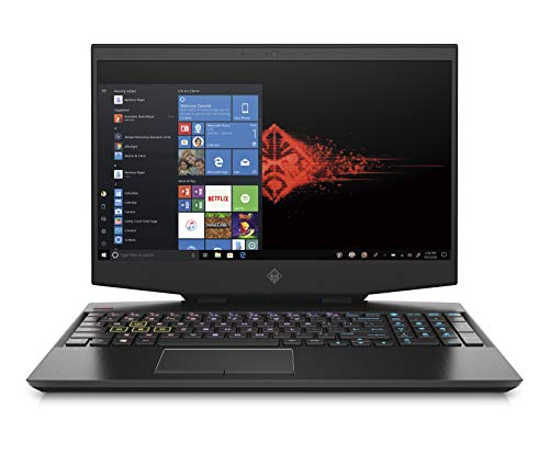 "HP OMEN 15-dh0000ns - Ordenador portátil de 15.6"" FullHD (Intel Core i7-9750H, 16GB RAM, 1TB HDD + 256GB SSD, NVIDIA GeForce GTX 1660 Ti-6GB, Windows 10) negro - teclado QWERTY Español"