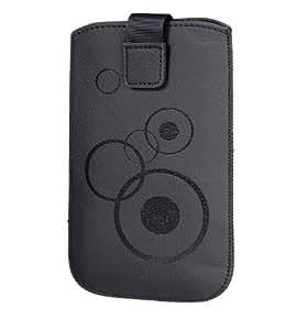 Handytasche Circle passend für Samsung Galaxy S5 Mini G800F Handy Tasche Schutz Hülle Slim Case Cover Etui schwarz