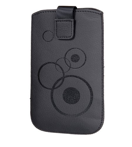 Preisvergleich Produktbild Handytasche Circle geeignet für Apple Iphone 7 / Samsung Galaxy A3 (2016) / HTC One Mini 2 Handy Tasche Schutz Hülle Slim Case Cover Etui schwarz