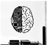 Cerveau Puce Ingénieur Vinyle Stickers Muraux Geek Ordinateur Intelligence Artificielle Intelligence Decal Creative Design Papier Peint Mural 56 * 67 Cm