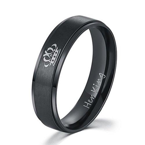 Yinew her King his Queen Ring Titan Stahl Ring Schmuck