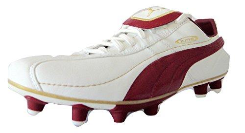 Puma King Excel Firm Ground Scarpe Da Calcio - bianco/rosso