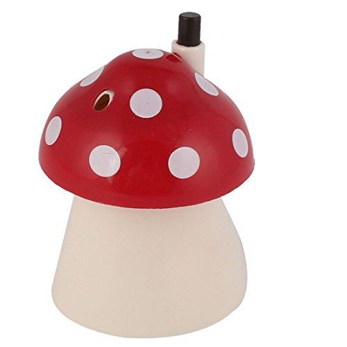 sourcingmap® familleménages en forme champignon porte cure dents en plastique Boîte Rouge Blanc
