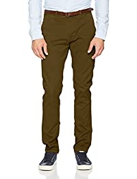 Scotch & Soda Nos-Slim Fit Cotton/Elastan Garment Dyed Chino Pant, Stuar, Pantalones para Hombre