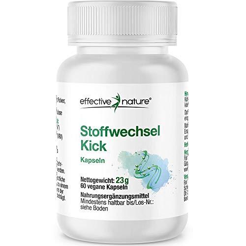 effective nature Stoffwechsel Kick - 60 vegetarische Kapseln - 23g