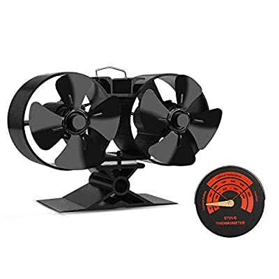 2018 New Design Wood Stove Fan -4 Blade Eco Friendly Silent Heat Powered Stove Fan for Wood Log Burners-Big Air Volume