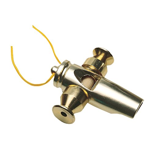 LP Latin Percussion Tri-Tone Samba Whistle, Gold LP352