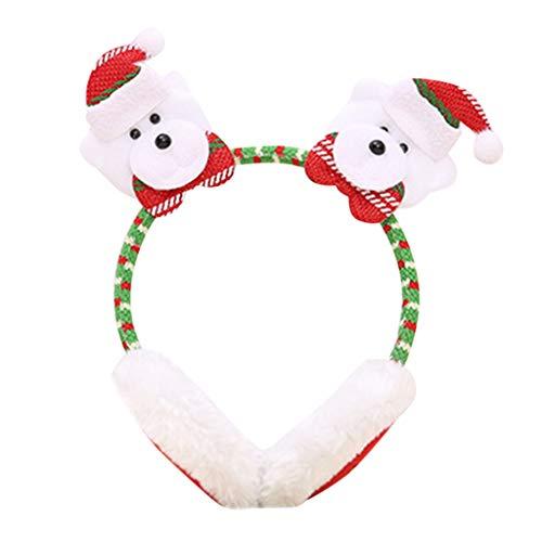 Für Astrid Erwachsene Kostüm - Sixcup Weihnachten Ohrenschützer Winter Warme Plüsch Ohrenschützer Nettes Ohr Weihnachtsmann Stirnband Kostüm Zubehör Kopfbedeckung für Kinder und Erwachsene (B)