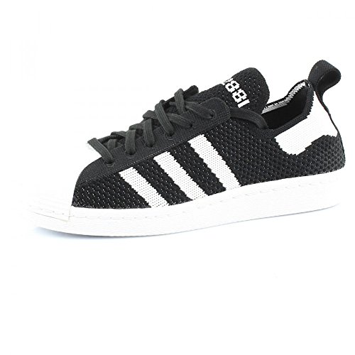 Adidas Originals SUPERSTAR 80S PRIMEKNIT W Chaussures Mode Sneakers Femme Noir Blanc