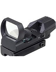 MAYMOC pista de 20 mm parte inferior ajustable. Láser visión Multi retícula 4 rojo punto vista alcance montar cola de Pato caza y accesorios de la cámara al aire libre
