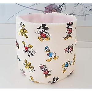 Hundeloop Loop Schal Hund Micky Maus Ente rosa 27-30 Handarbeit Handmade