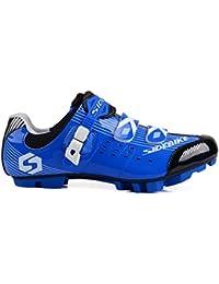 TXJ® Mujer y Hombre Calzado Ciclismo Montaña - Zapatillas de Bicicleta MTB(Elija un Tamaño Más Grande de lo…