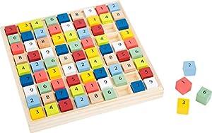 small foot company- Sudoku Educate de Madera con Coloridos Cubos numéricos, Entrena la comprensión de los números. Juguetes, (Small Foot by Legler 11164)