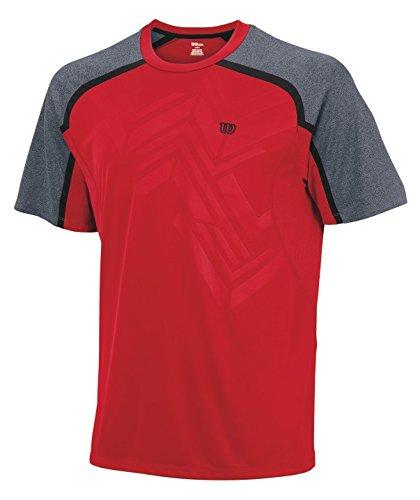 Wilson, Maglietta a maniche corte Uomo, Rosso (Rot), S