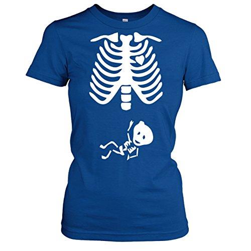 TEXLAB - Skelett - Damen T-Shirt Marine
