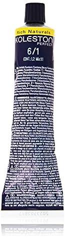 Wella Professionals Koleston Perfekt Permanente Cremehaarfarbe, 6/1 dunkel Blond asch, 1er Pack (1 x 60 ml)