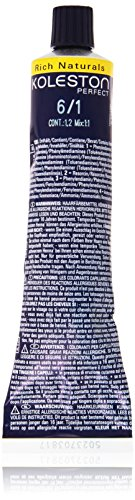 Wella Professionals Koleston Perfect Permanente CremeHaarfarbe, 6/ 1 dunkel Blond asch, 1er Pack (1...
