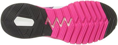 Puma Ignite Dual EvoKnit Synthétique Baskets Pink Glo-Periscope-White